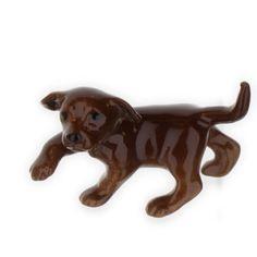 Hagen Renaker miniature Labrador Retriever dog chocolate brown