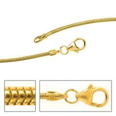 Damen-Kette Schlangen 8 Karat (333) Gelbgold 60 cm 1.4 mm Karabinerverschluss Dreambase, http://www.amazon.de/dp/B00AB3Y4EO/ref=cm_sw_r_pi_dp_Izgjtb1A0GCC8