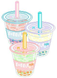 pretty-transparents: bubble tea time +。・゚ o゚