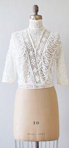 Antique Victorian lace crochet blouse | #antique #Victorian #lace #antiqueblouse