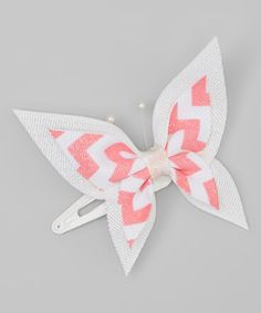 Look at this Pink Sparkle Butterfly Snap Clip on #zulily today!