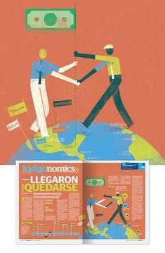 Illustration For Business And Financial News. Samara, Honduras, Portugal, Financial News, My Portfolio, Editorial Design, Behance, Digital, Creative