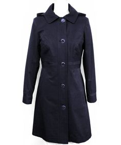 Another great find on #zulily! Navy Hooded Trench Coat - Women by Ivanka Trump #zulilyfinds