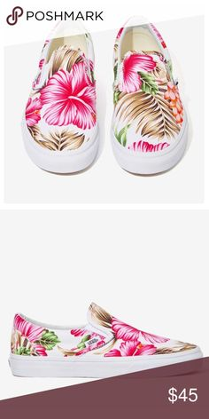 88c2ff9a4 floral vans Brand new vans in box. Colorful floral print on white shoe.