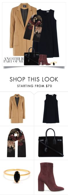 """Camel Coat"" by thaliatria ❤ liked on Polyvore featuring mel, Jil Sander, Valentino, Yves Saint Laurent, Bing Bang and Gianvito Rossi"