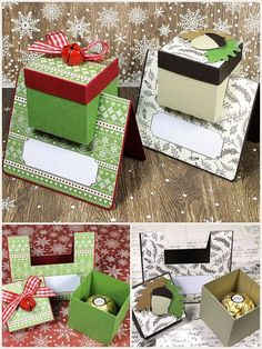 Box in a Card Placecard Ferrero Rocher truffle treats - cutfile freebie Fancy Fold Cards, Folded Cards, Christmas Paper, Christmas Crafts, Card Tutorials, Box Cards Tutorial, Pop Up Cards, Paper Gifts, Card Templates