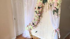 Diy Wedding Backdrop, Wedding Stage Decorations, Diy Backdrop, Backdrop Decorations, Diy Party Decorations, Wedding Centerpieces, Decor Wedding, Backdrop Design, Floral Backdrop