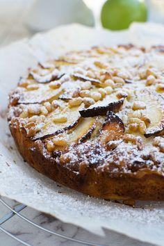 This easy apple cake (or torta di mele!) is the pride and joy of Italian nonnas everywhere. It's a real crowd pleaser and you need just 6 pantry ingredients to make it! Apple Desserts, Apple Recipes, Easy Desserts, Baking Recipes, Delicious Desserts, Cake Recipes, Dessert Recipes, Yummy Recipes, Dinner Recipes