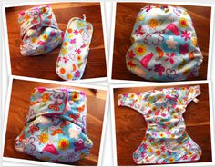 Handmade 'Tweety Pie' Birth To Potty Pocket Nappy with Heart Shaped Snaps & Matching Zorb Booster.