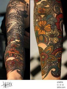 Yanina Viland - Paisley Pattern | Sleeve in Progress | tattrx