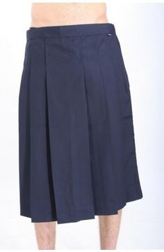 The Urban Apparel Knife Pleat Midi Length Skirt