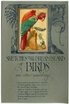 """Sketches from the Dream Island of Birds"" by Charles Van Sandwyk 1995"