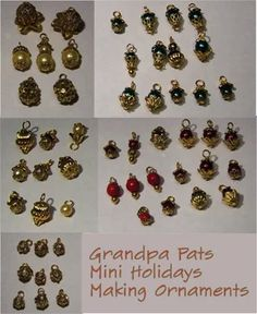 Making Mini Christmas Ornaments (with Pictures) Picture Christmas Ornaments, Felt Christmas Decorations, Miniature Christmas Trees, Beaded Christmas Ornaments, Halloween Ornaments, Christmas Minis, Christmas Crafts, Diy Ornaments, Christmas Villages