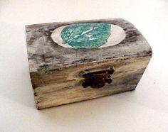 Caja de Madera Rústica Caja de Madera de Detalle por Tutorialpaper