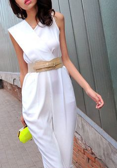 jumpsuit summer 201 3jumpsuit women sexy white jumpsuits free shipping $48.80