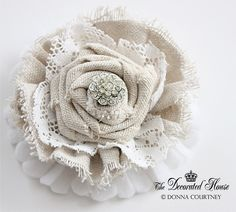 How to Make Fabric Flowers - DIY Tutorial - I think these are so unique