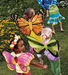 Lightweight Glittery Nylon Butterfly Wings with Elastic Straps, Size 21&quot