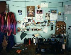 Bruce Wrighton, Sergios Tailor Shop Binghamton, NY, 1986 8 x 10 vintage c-print Jena, Keep Company, Broken Home, Tailor Shop, Messy Room, Secret Rooms, Shop Interior Design, Aesthetic Pictures, Home Furniture