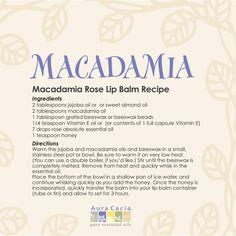 #macadamia oil & rose lip balm #recipe