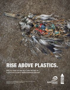 Creative print ads target plastic pollution #Ad