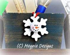 Megpie Designs: THREE - Snowman Snowflake