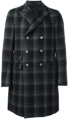 Ermenegildo Zegna checked double breasted coat Mens Overcoat, Double Breasted Coat, Stylish, Jackets, Tops, Fashion, Moda, Fashion Styles, Shell Tops