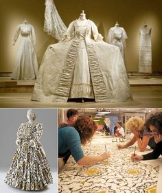 Isabelle de Borchgrave's immaculate construction of period paper costumes