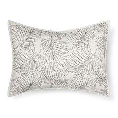 Cream Palm Stitch Pillow Sham - Threshold™