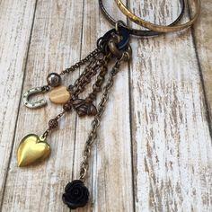 Horseshoe Dangle Chain Bangles