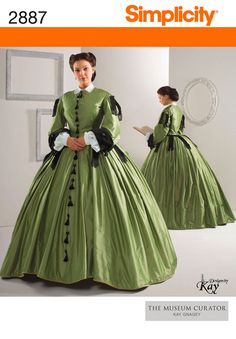 Another Civil War pattern.  This one reminds me strongly of Scarlett O'Hara's dress she made from curtains.