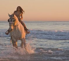 Wouldn't you like to ride a horse at the beach?
