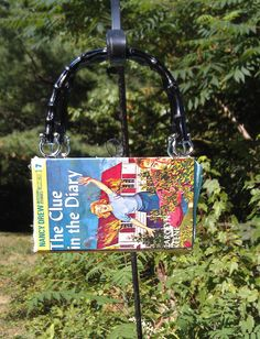 Retro Funky Upcycle Nancy Drew (The Clue In The Diary) Book Purse Bag Vintage Handmade Handbag Accessory. $25.00, via Etsy.