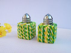 Salt and Pepper Shakers small 1 square by FlowertownOriginals, $13.00 Different but very cool!