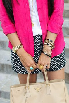 LOVE the color combo wow i really love this outfit! Love this color combo! Clothes Casual Outift for Looks Style, Style Me, Style Blog, Spring Summer Fashion, Spring Outfits, Summer Fall, Spring Time, Summer Time, Only Shorts