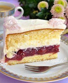 Kirsch- Mascarpone- Torte - Rezept (fondant icing recipe)