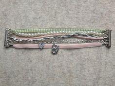 Trachtenarmband, rosa, grün von meiTherese by Ninnerl auf DaWanda.com