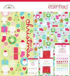 Doodlebug Design - Happy Holidays Collection - Christmas - Essentials Kit at Scrapbook.com $19.99