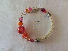 Viking Knit Bracelet - Pink Ribbons Wire Wrapped Rings, Wire Wrapped Pendant, Wire Rings, Knit Bracelet, Beaded Bracelets, Wire Jewelry, Handmade Jewelry, Viking Knit Jewelry, Pink Ribbons