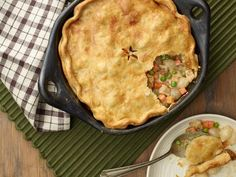 Recipe of the Day: Shortcut Chicken Pot Pie Sunny opts for a timesaving prepared pie dough to make the base of her pot pie, which she fills with a classic mixture of creamy chicken and vegetables. Best of all, this dinner is ready to eat in less than 45 minutes. #RecipeOfTheDay