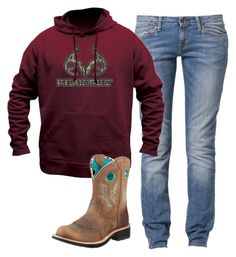 """Today: School"" by backwoods-princess ❤ liked on Polyvore featuring Carhartt, Realtree and Ariat"