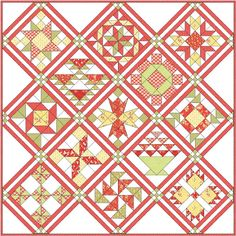 {Sisters and Quilters} - Apple Pie in the Sky - directions for each block - also shows readers' blocks