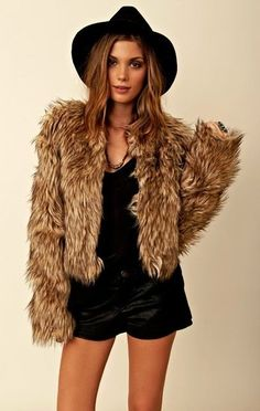 BB Dakota Pele Coyote Faux Fur Jacket ($132)