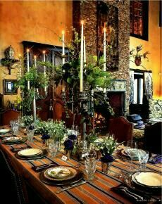 Winter Table, Fall Table, Aspen House, Toscana Italia, Beautiful Table Settings, Hacienda Style, Tuscan Decorating, Decorating Ideas, Decor Ideas