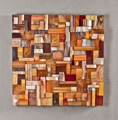 Highly distinctive expressionistic artwork by Canadian wood artist Olga Oreshyna, unique compositions of richly textured surfaces and intricate wood blocks shape Wooden Wall Art, Wooden Walls, Wooden Blocks, Woodworking Logo, Woodworking Projects, Woodworking Videos, Woodworking Chisels, Woodworking Classes, Youtube Woodworking