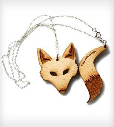 Wood Fox Necklace | Women's Jewelry | Vinca | Scoutmob Shoppe | Product Detail