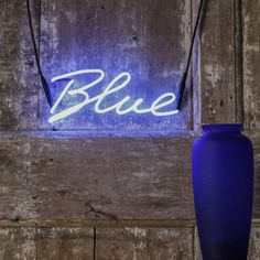 Blue Neon Word Light