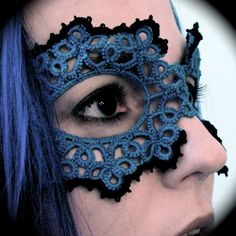 Hand tatted mask $65