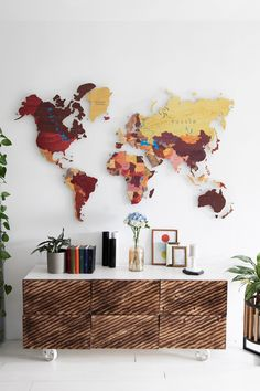 Brown & Orange World Map for Children by GaDenMap. Push Pin travel map for wall decor in office room, bedroom, living room, kid's room decorating. Unique gift idea for travelers. Kids World Map Wall Art, World Map Wall Mural Kids, Kids Room Décor, PVC Map for Home Décor, World Map Wall Art Kids #worldmapdecor #homedecorating #wallart