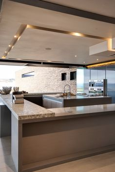 Pin by tala khodr on wow ♡ kitchen ceiling design, home decor kitchen, ceil Kitchen Ceiling Design, False Ceiling Design, Home Decor Kitchen, Kitchen Interior, Home Interior Design, Home Kitchens, Interior Architecture, Kitchen Ideas, Modern Ceiling Design