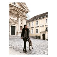 #streetstyle from #zara, #balenciaga and #topshop 🖤 and my #weimaraner #george 🐶 Weimaraner, City Chic, Balenciaga, Louvre, Topshop, Street Style, My Style, Building, Travel